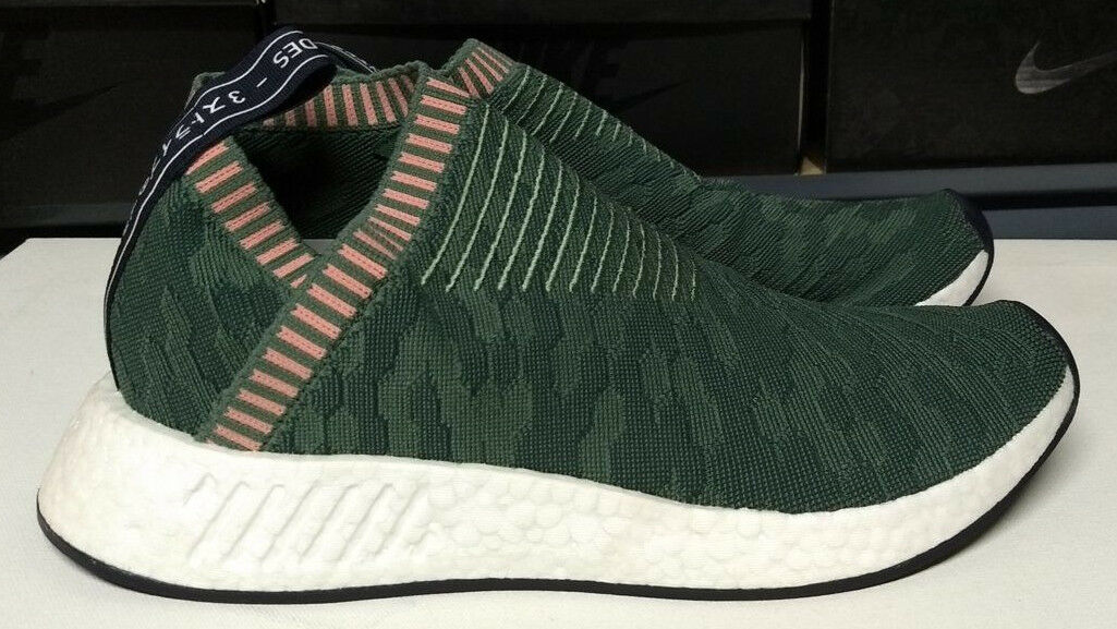 Adidas NMD CS2 PK W Size 10.5 Womens Trace Green Pink Primeknit Shoes BY8781