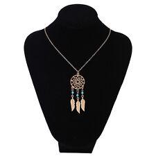 Fashion Women Dream Catcher Feather Pendant long Chain Necklace Jewelry CX18