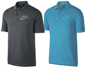 Nike-Mens-Faded-PQ-Wash-HBR-Polo-Shirt-Grey-Blue-New-886491