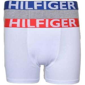 8193e5bb8e Tommy Hilfiger Boy's 2 Pack Bold Cotton Stretch Boxer Brief / Trunk ...