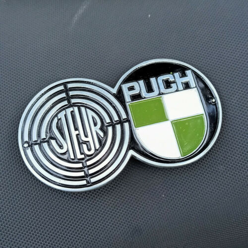 steyr puch CAR VINTAGE BUCKLE LOGO fibbia Schnalle HAND MADE fiat 500