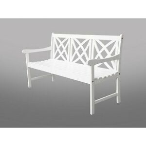 Image Is Loading Bradley Eco Friendly 5 Foot Outdoor White Wood