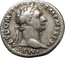 DOMITIAN son of Vespasian Silver Ancient Roman Coin Athena Minerva i53279
