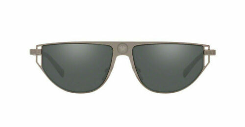 Versace Men/'s Sunglasses VE2213 10016G 57mm Gunmetal Grey Mirror Silver Lens