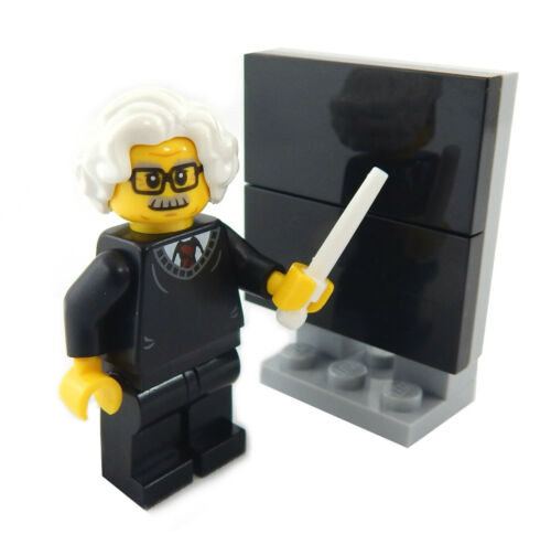 "NEW LEGO /""PROFESSOR EINSTEIN/"" MINIFIG science minifigure albert chalkboard"