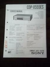 Sony Service Manual for the CDP-X555ES Compact Disc CD Player   mp