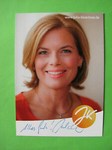 Autogrammkarte - Julia Klöckner - CDU - original autograph