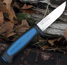 Lot de 2 Couteaux Mora Pro Lame Carbone Manche Abs Blue Etui Made Sweden FT01506