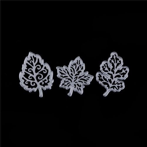 3x Leaves Metal Cutting Dies Stencils for DIY Paper Cards Scrapbooking Decor DSU