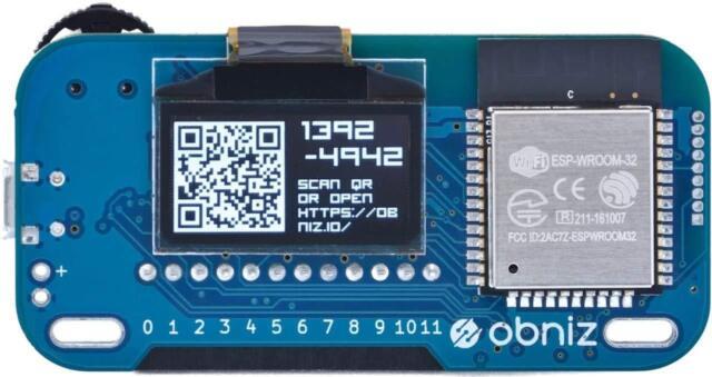 obniz: EASY hardware programming with javascript. onboard 12 motor drivers. Wifi