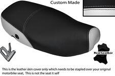 WHITE & BLACK CUSTOM FITS PIAGGIO VESPA LX 125 DUAL LEATHER SEAT COVER