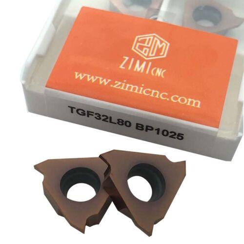10pcs TGF32L80 BP1025 Shallow grooving Cut-off insert carbide insert for KTGFR