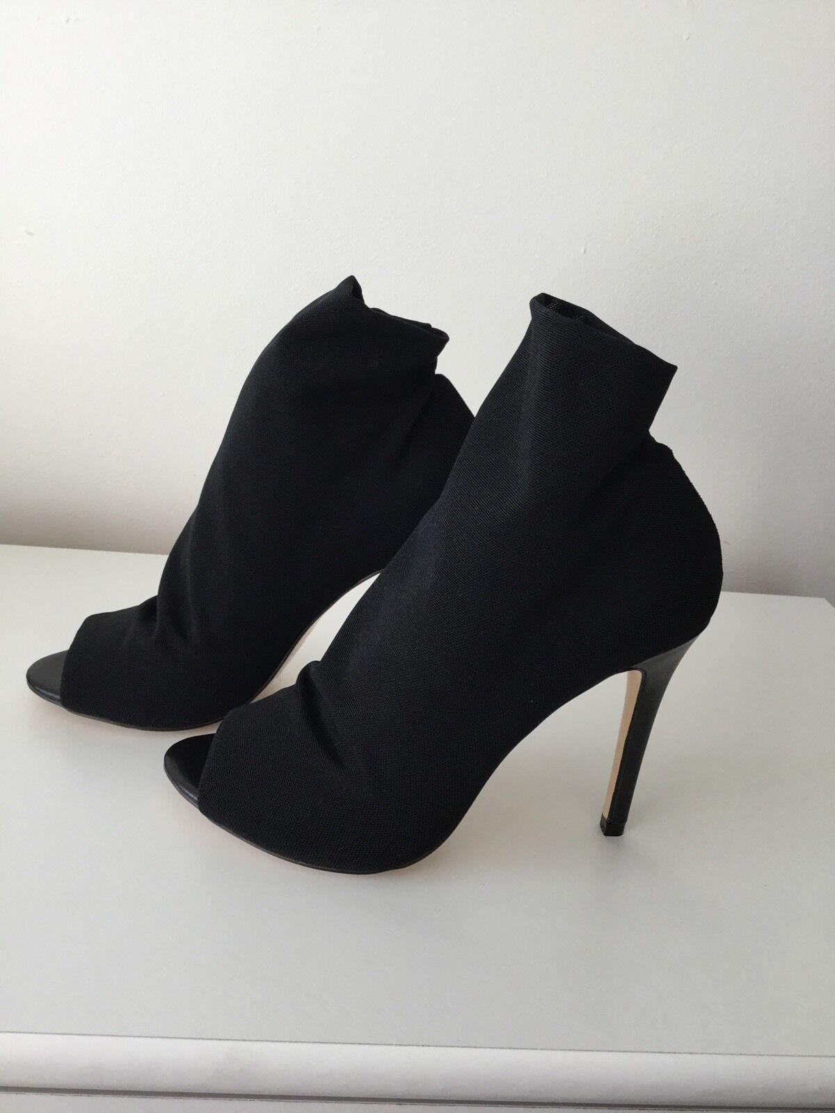Karen Millen Mesh Peep Toe Schuhe Stiefel UK6/EU39