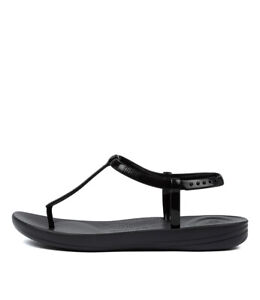 New-Fitflop-Iqushion-Splash-Blk-Womens-Shoes-Comfort-Sandals-Sandals-Flat