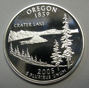 2005-S-Oregon-Gem-DCAM-Silver-Proof-State-Quarter-Stunning-Coin