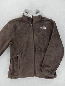 The North Face Fleece Full Zip Fleece Jacket (Girls Medium) Brown  e79be205e