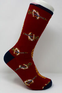Cleveland Cavaliers NBA M1504R Raspberry All Over Logo Adult Crew Socks - Large