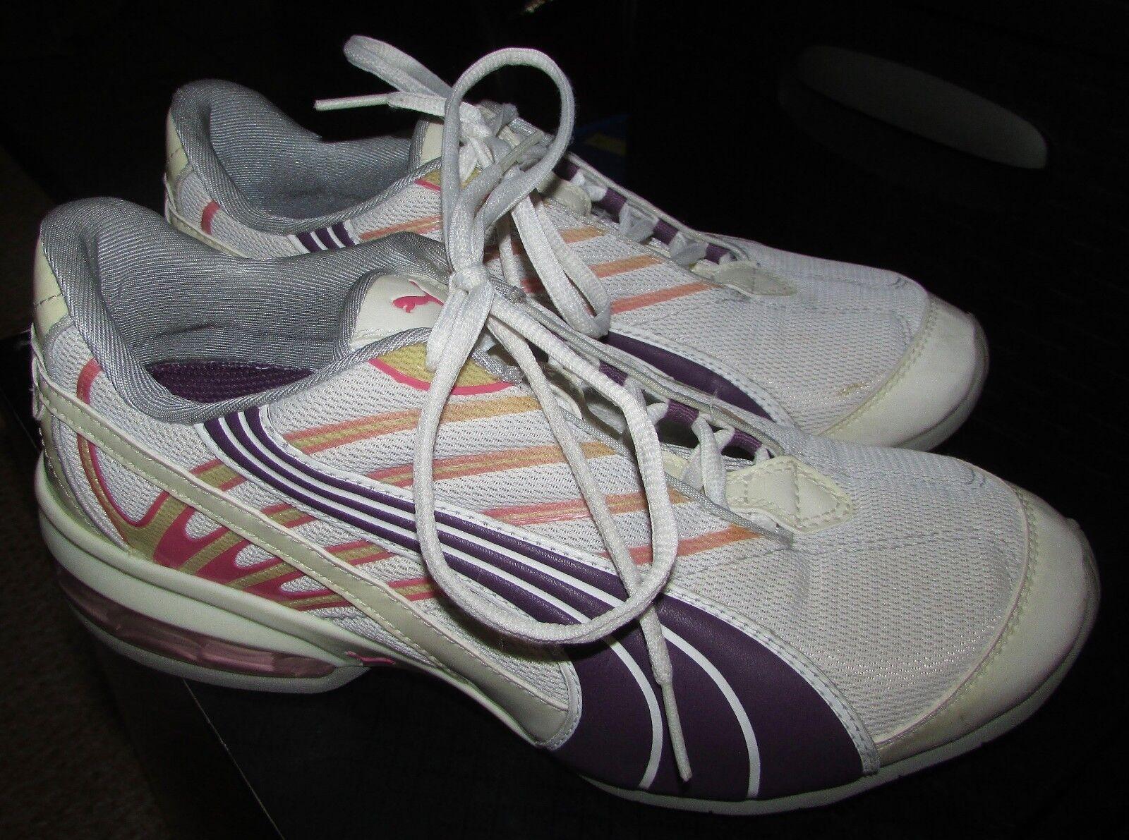 Puma Amar Running shoes White Purple Pink Womens US Size 9  184163-06