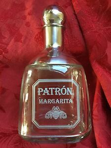 NEW FLAWLESS Exquisite PETRON MARGARITA Glass & Chrome Metal COCKTAIL SHaKeR