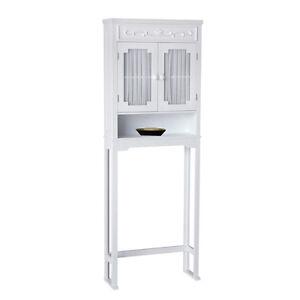 Lisbon Floor Cabinet/Cupboard Space Saver for Bathroom & Kitchen Storage, White