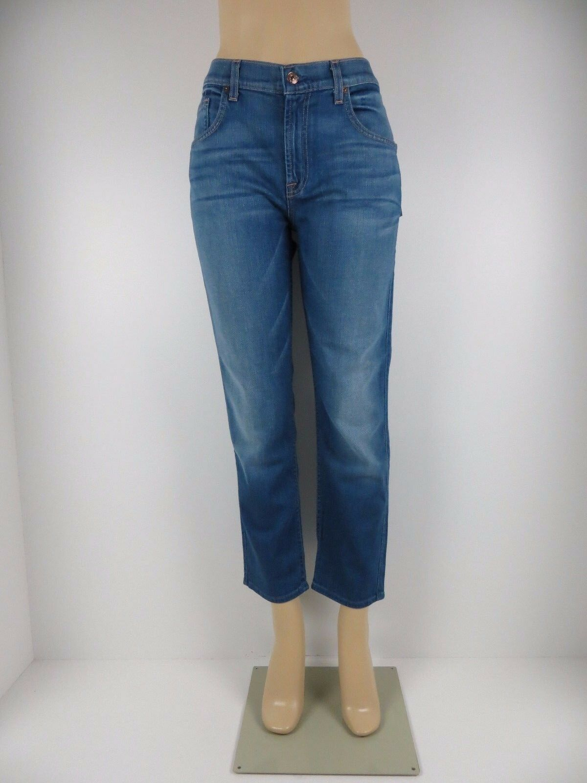NWT 7 SEVEN FOR ALL MANKIND JEANS,The Cropped Relaxed Skinny, WDM, Size 31,