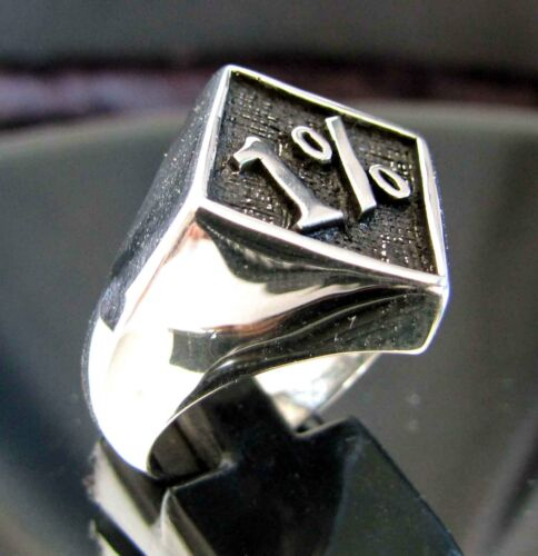1/% Bikers Patch Ring .925 Sterling Silver BB02//S