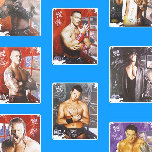 WWE 2012 autocollant pack lutteurs lutte chambre à coucher mur autocollants Stickarounds