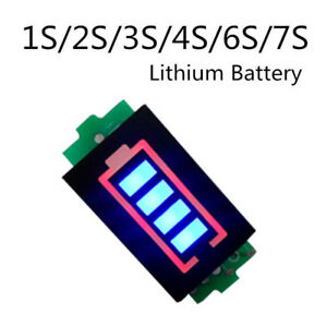 Details about Lithium Battery Capacity Indicator Module Blue Display  Electric Vehicle Tester