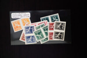 Argentina-Stamps-Lot-of-10-Early-Pairs-of-Color-Proofs