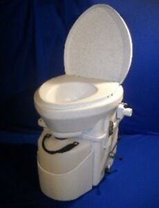 NATURE\'S HEAD DRY COMPOSTING TOILET SPIDER HANDLE WHITE GRANITE NEW ...