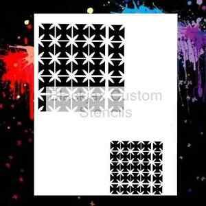 Maltese-Cross-Pattern-Set-Airbrush-Stencil-Template