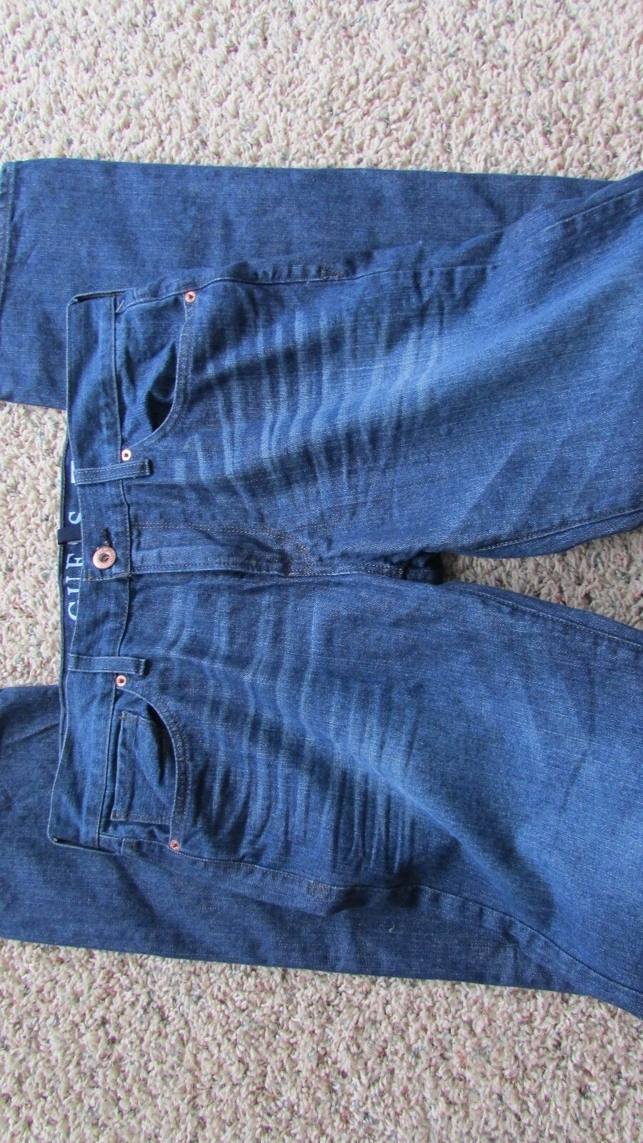 NEW GUESS LINCOLN SLIM STRAIGHT JEANS MENS 30X32 WATCH OUT WASH  FREE SHIP