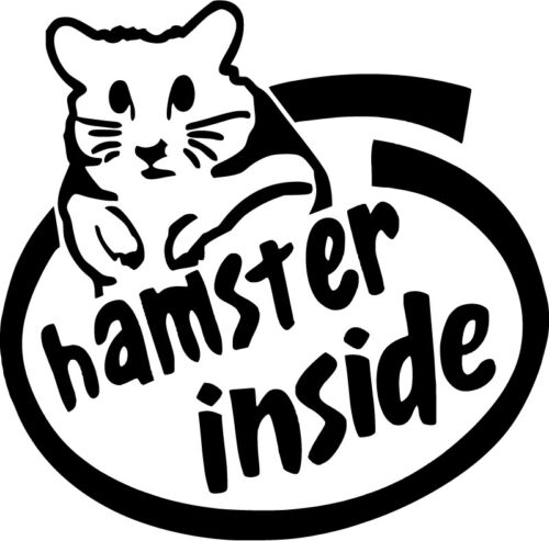 Choose Size /& Color Hamster Inside Style B Vinyl Sticker Decal
