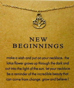 Dogeared Style Gold Dipped New Beginnings Necklace Us Seller