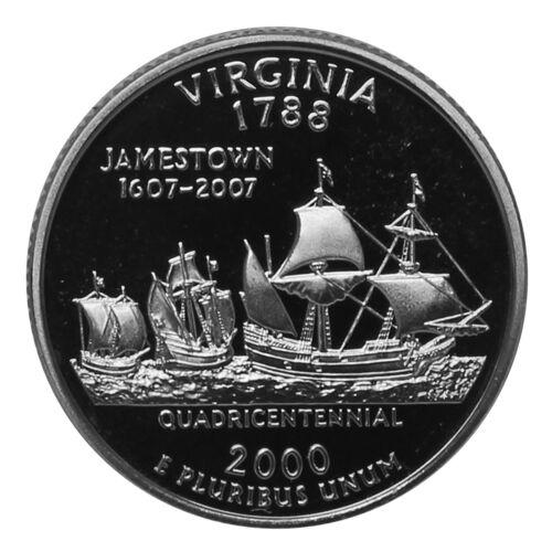 2000 S State Quarter Virgina Proof Single Gem Deep Cameo CN-Clad Coin