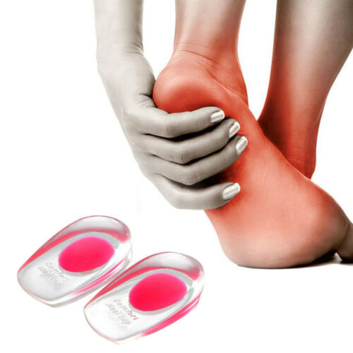 Comfortable Pad Gel Orthotic Heel Shock Support Silicone Cushion Cup Insole