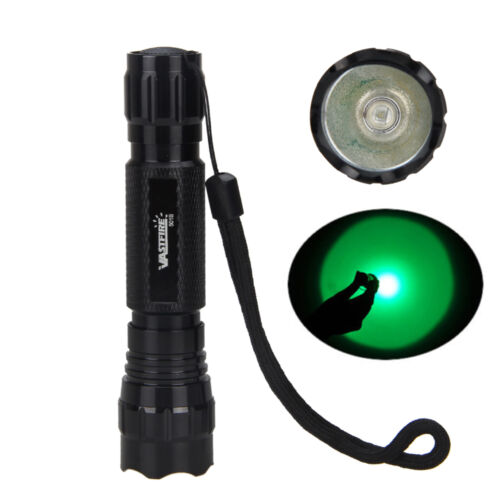 Tactical 5000LM Q5 Green Light LED Military Flashlight Torch Rifle Light 18650
