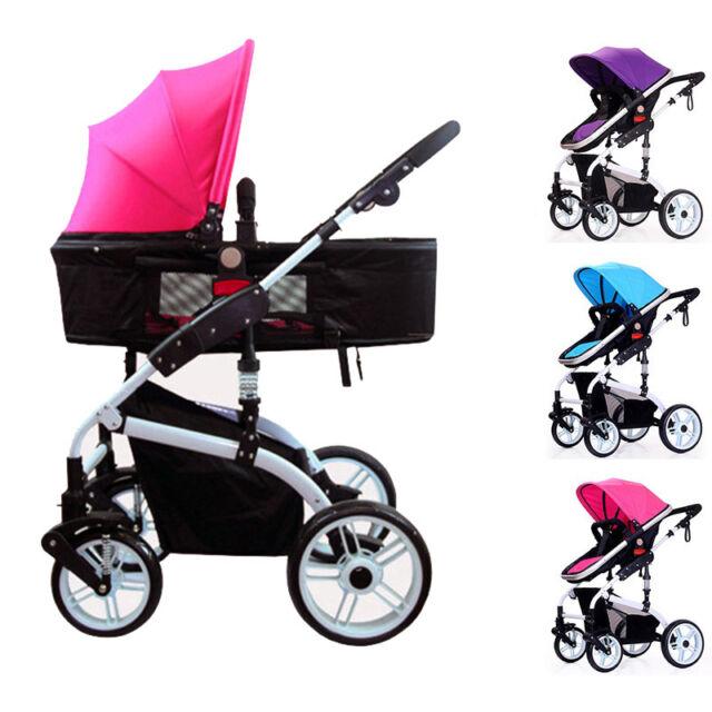 Infant Stroller Folding Pushchair Baby Kids Pram Trolley Shockproof Buggy Prams