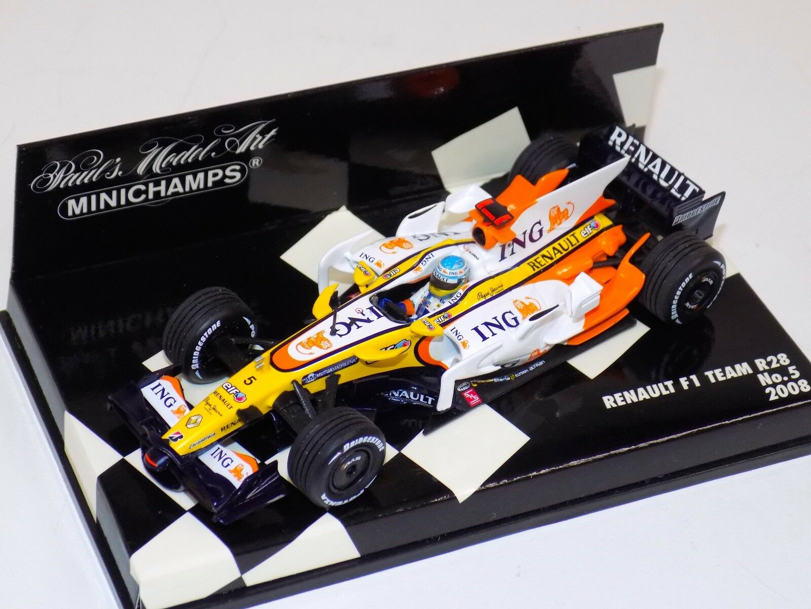 1 43 Minichamps F1 Renault R28  Fernando Alonso from 2008