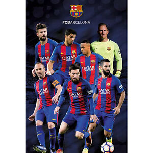 sports shoes d6e2d 6ae1c Image is loading Barcelona-Group-2017-POSTER-61x91cm-NEW-Football-FCB-