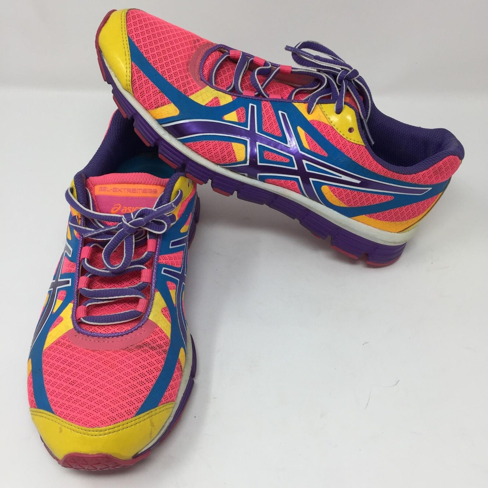 Asics Extreme 33 Multi-color Pink Purple Woman's Running shoes Size 7.5 Bright