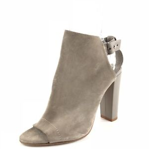 26d41540ce0 Vince Addie Gray Suede Slingback Ankle Strap Sandals Womens Size 9.5 ...