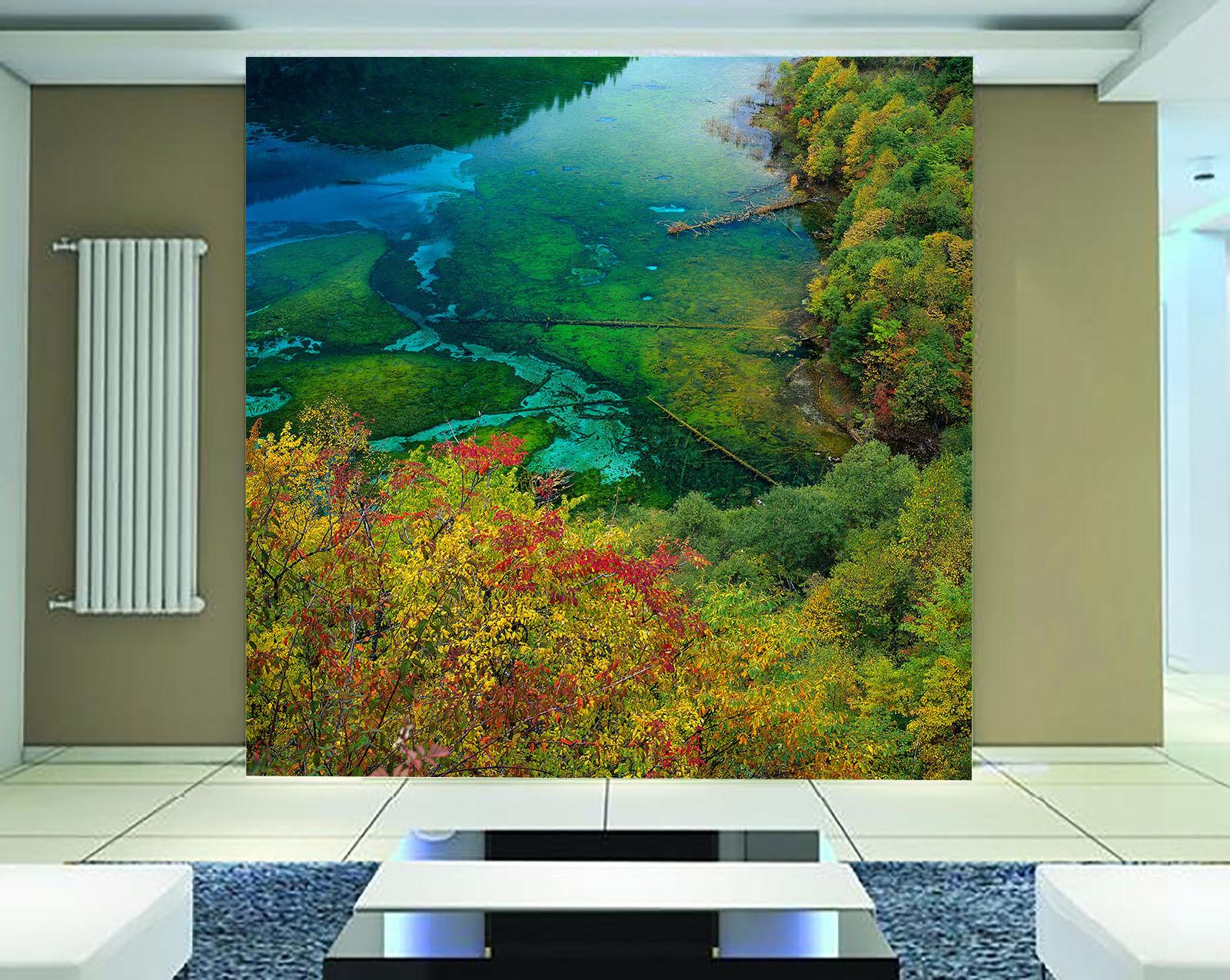 3D Wäldern, flüssen 7986 Fototapeten Wandbild Fototapete BildTapete Familie DE