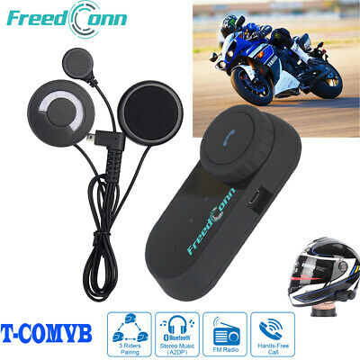 2x T-COMOS Bluetooth Motorrad Intercom Headset Helm Gegensprechanlage Interphone