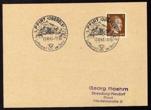 Allemagne-n-706-Yv-cachet-WW2-PFIRT-Oberels-Timbre-Allemand-Hitler-Mi-782