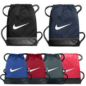 Nike Brasilia Sports Gymsack Training Gym Bag Sack Drawstring PE ... 26bfdaab6dccc