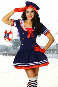Sexy-Damen-Marine-Kostuem-Marinekostuem-Karneval-blau-Fasching-Gr-S-M-36-38-117