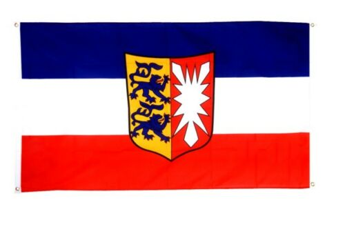 BALKONFLAGGE BALKONFAHNE Deutschland Schleswig-Holstein Flagge Fahne für den BAL