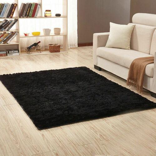 Große flauschige Teppiche Anti-Rutsch Shaggy Area Rug Esszimmer Teppich Bodenmat