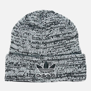 5b683a2a8d0 Adidas Originals Stocking Hat Cap   Beanie Trefoil NEW Black White ...
